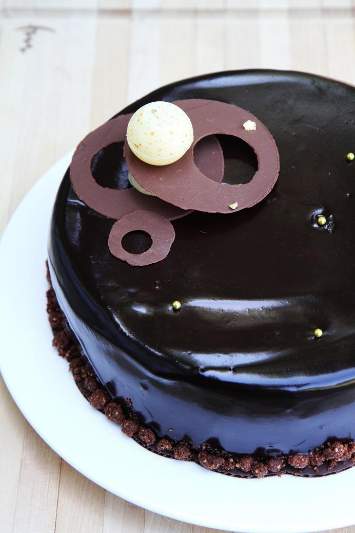 Chocolate Vanilla Coffee Entremet