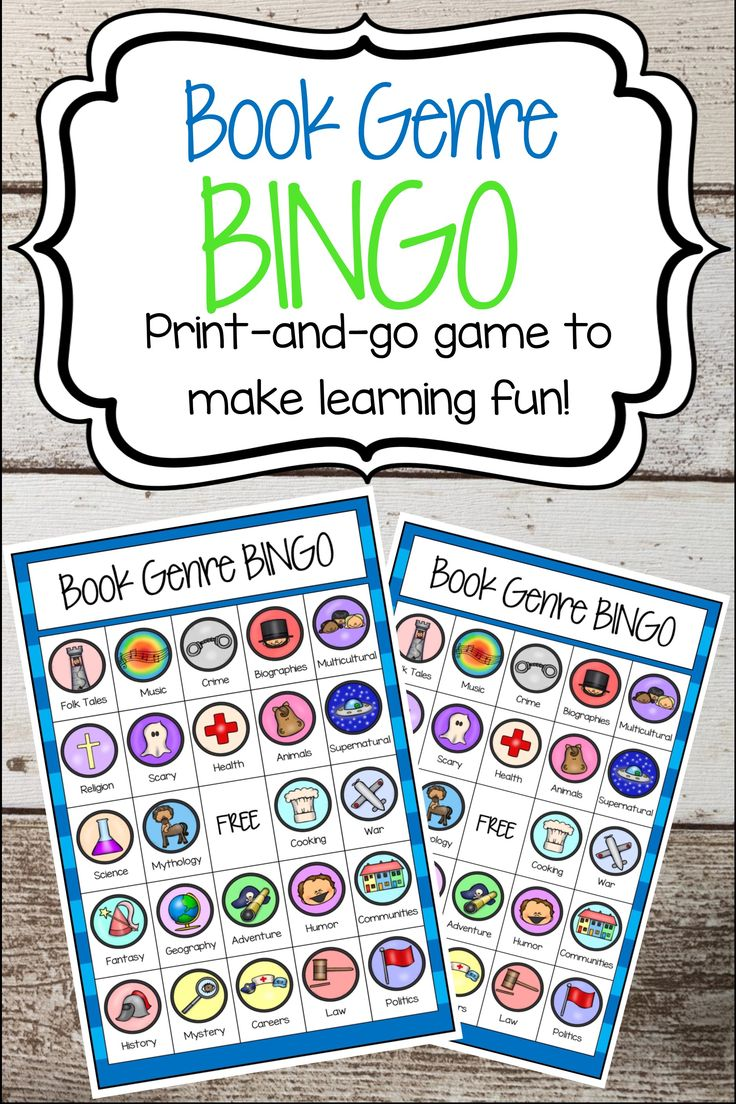 Book Genre BINGO is a fun way to introduce or reinforce different types of genres to your students. Perfect for the media center, small group reading, whole group reading or any type of literature center or reading time, this game would also be fun to play with book clubs.