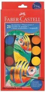 Vodové farby plastová palety 30mm, 21ks Faber-Castell