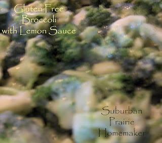 Gluten Free Broccoli w/ Lemon Sauce RecipeSauces Recipe, Lemon Sauces, Freedom Friday, Free Issues, Free Broccoli, Free Recipe, Gluten Freeeee, Suburban Prairie, Prairie Homemaking