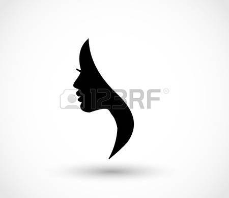 Vrouw profiel schoonheid illustratie vector Stockfoto