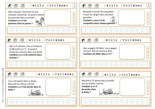 Les petits problèmes version Cap Maths - CE1
