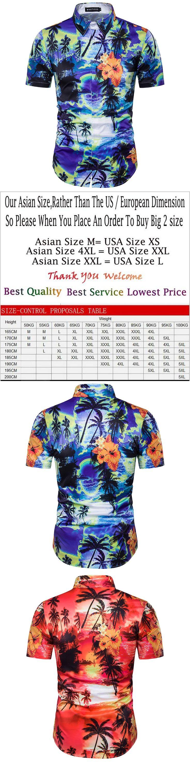 Fashion Designer Dress Shirt 2017 Men Hawaiian Shirt 3D Palm Trees Print Shirts Short Sleeve Casual Shirt camisa masculina M-3XL