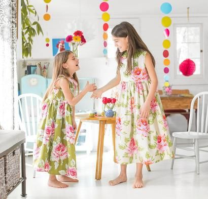 Girls' Garden Party Dress Kit - Sewing Kit includes Fabric & Pattern!
