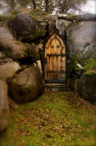 Beautiful door to a cave~? Couldn't find original source.