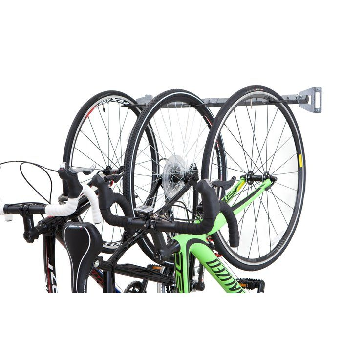 2 0 Monkey Bars 3 Bike Wall Mounted Bike Rack With Images Wall