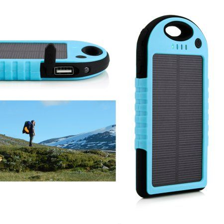 Charge your devices on-the-go with this portable waterproof solar charger from Walmart.com. Charge your devices on-the-go with this portable waterproof solar charger. It can be used in any outdoor environment and is perfect for people who love being outdoors.