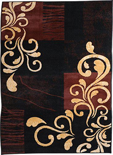 """awesome Home Dynamix Premium Collection HD1879-502 Area Rug, 7'8"""" by 10'7"""", Ebony"""