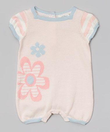 Look at this #zulilyfind! Light Pink & Blue Floral Romper - Infant #zulilyfinds