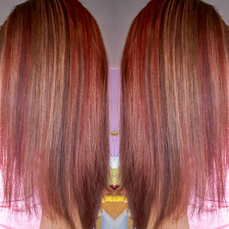 Mahagon čok.hneda blond melír😉