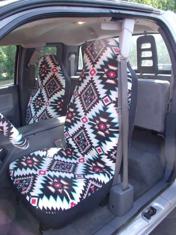 A Set of Shadow Diamond Multi seat covers and steering wheel