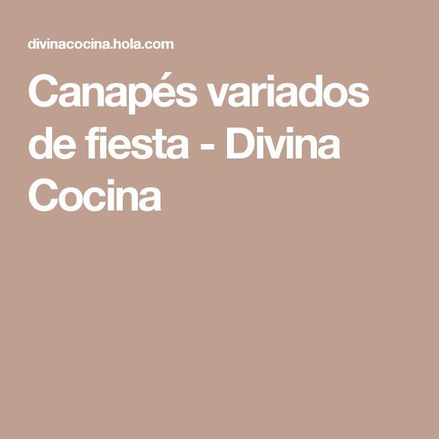 Canapés variados de fiesta - Divina Cocina
