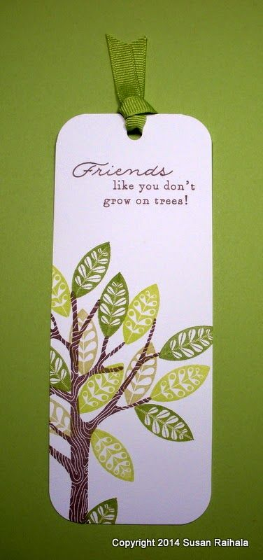 Simplicity: Book Mark and a Lesson in Ink. PTI Mighty Oak (tree) die and stamps.