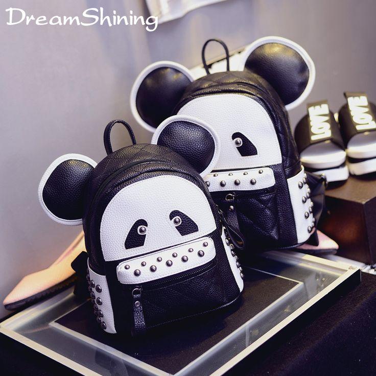 $36.99 (Buy here: https://alitems.com/g/1e8d114494ebda23ff8b16525dc3e8/?i=5&ulp=https%3A%2F%2Fwww.aliexpress.com%2Fitem%2F3D-Women-Leather-Backpack-Cute-Cartoon-Panda-School-Bags-For-Teenagers-Girls-Kawaii-Children-Backpacks-Mochilas%2F32715995352.html ) DreamShining Women Leather Backpack Cute Cartoon Panda School Bags For Teenagers Girls Children Backpacks Mochilas Femininas for just $36.99