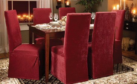 Fundas para sillas de comedor fundas de sofa pinterest for Fundas para sillas comedor