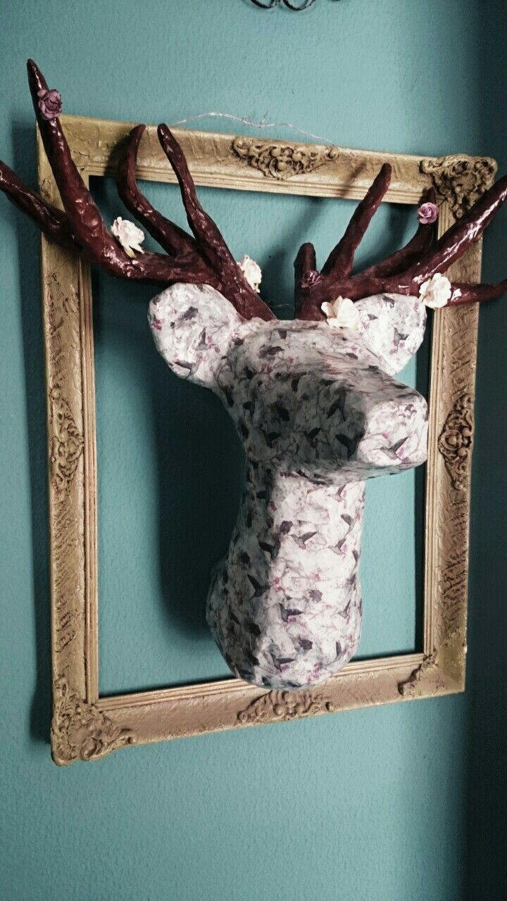 Handmade deer, home decor