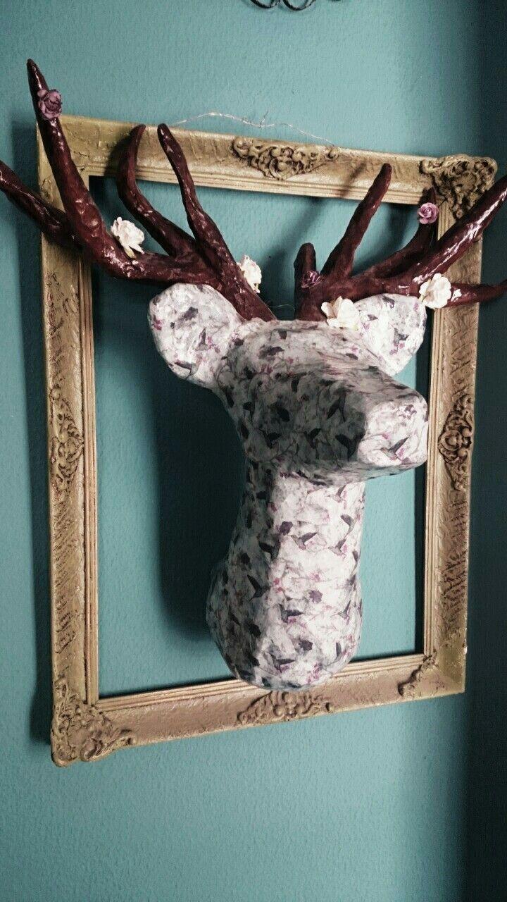 Handmade deer, home decor