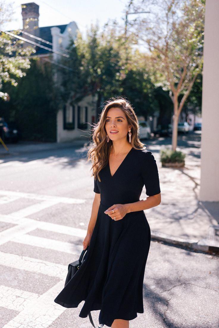 Perfect little black dress LBD inspiration. Wear to work dress. Classic black dr… 3