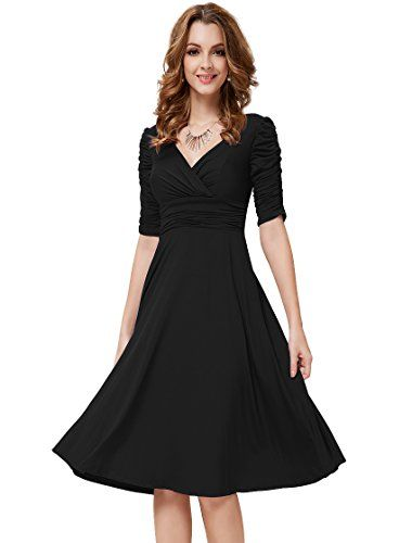 HE03632BK06, Black, 4US, Ever Pretty 3/4 Sleeve Sexy Party Dresses 03632 Ever-Pretty http://smile.amazon.com/dp/B00EPY44FE/ref=cm_sw_r_pi_dp_mHtuvb1799PM1