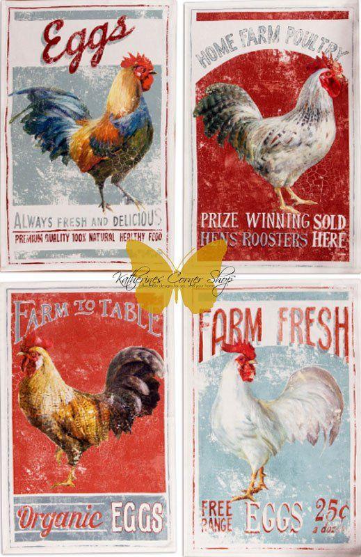 Farmhouse Rooster Kitchen Towel – Katherines Corner Shop