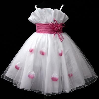 """Φορέματα για Παρανυφάκια - Επίσημα Φορέματα για Κορίτσια :: Μοναδικό Παιδικό Λευκό με Φούξια, Φόρεμα για βάφτιση, Παρανυφάκι, Πάρτι Σε Πολύ καλή Τιμή και Ποιότητα """"Dolly"""" -http://www.memoirs.gr/"""