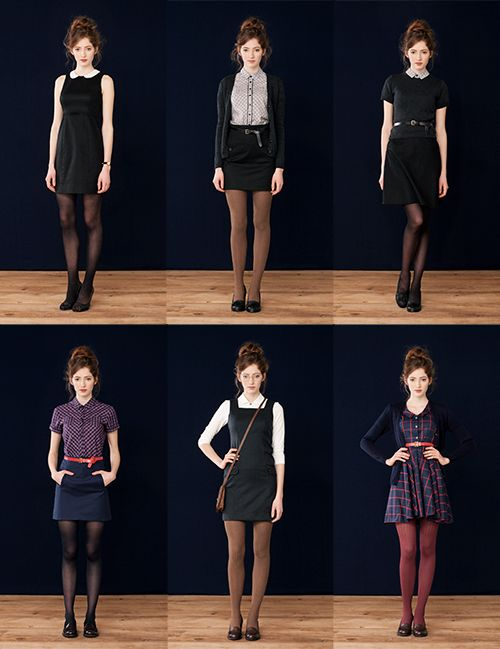Betina Lou Autumn/Winter 2013. I seriously wish I had things like this in my wardrobe so I could be the cute librarian girl and stuff but I don't. *sighs* Someday...