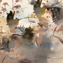 Graphic Hummingbird Splatter Collage