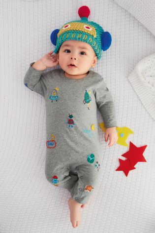 Buy Grey Embellished Romper (0-18mths) online today at Next: Netherlands