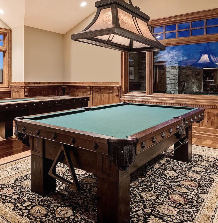 Custom Billiard Table In The American Prairie Style, With Panel Detail On  Body And Iron