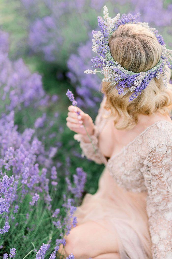 Peach Wedding Dress For A Love In Lavender Shoot In 2020 Peach Wedding Dress Peach Wedding Lavender Farm Wedding