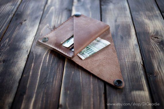 Leather wallet woman coin pocket wallet slim wallet door DiGeordie