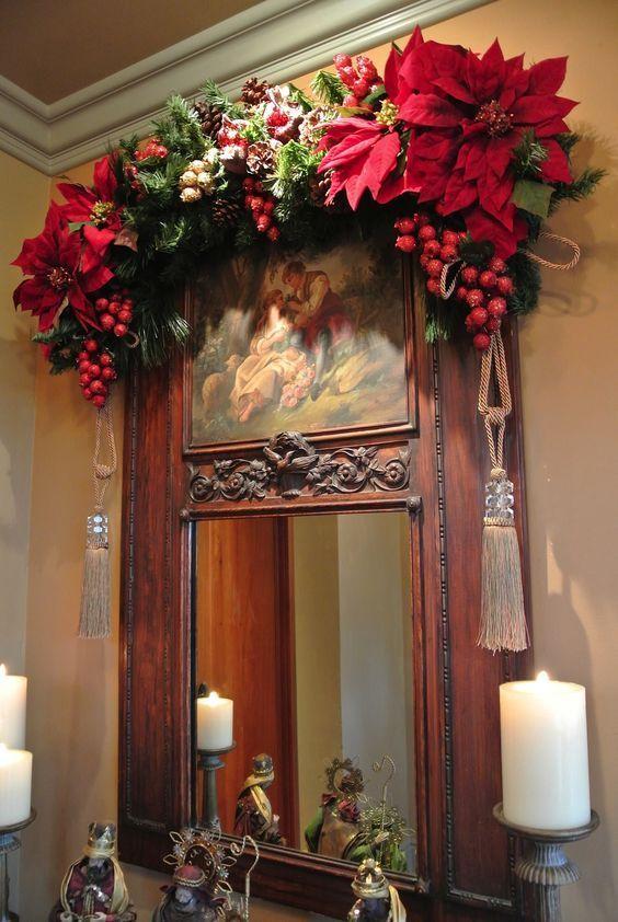 Ideas Para Decorar Espejos En Navidad Decoracion Navidad