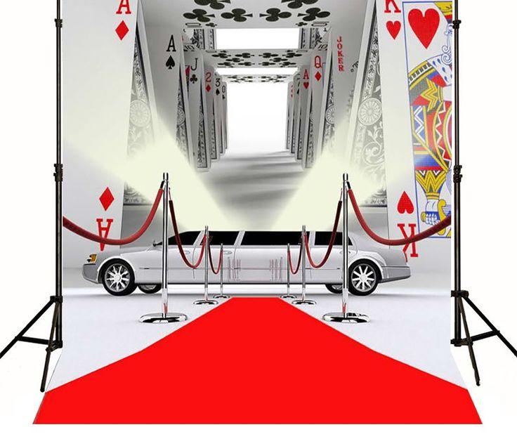 >> Click to Buy << Casino Poker Red Carpet Cars Backgrounds Vinyl cloth Computer printed custom backdrop #Affiliate