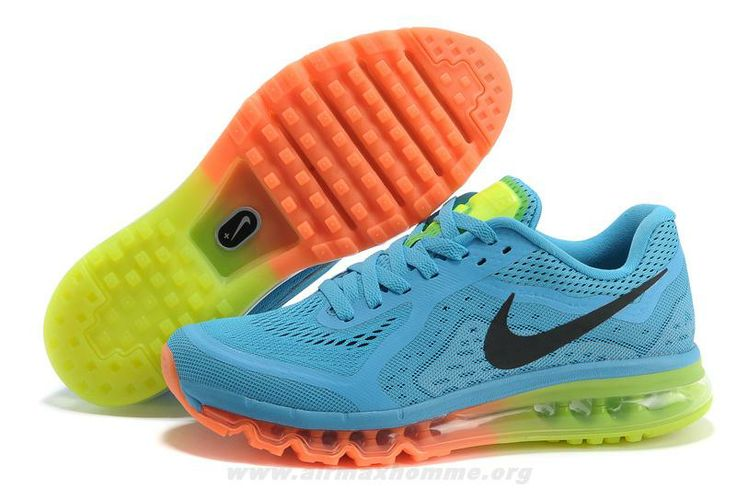 Cheap Mens Nike Air Max 2014 Blue Orange Black Shoes For Sale --- Nikes on  sale-- great prices