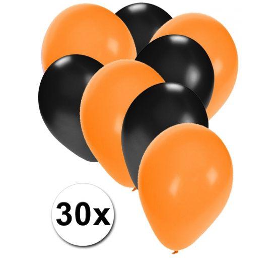 Oranjete en zwarte ballonnen 30 stuks  30 stuks ballonnen in de kleuren oranje en zwart. Van elke kleur 15 ballonnen leuk voor verjaardagen en themafeesten. Formaat is ongeveer 27 cm. Goede kwaliteit.  Dit artikel bestaat uit: 1x Zwarte ballonnen 15 stuks 1x Oranje ballonnen 15 stuks  EUR 2.99  Meer informatie