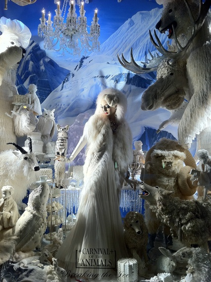 Bergdorf Goodman Window a la The Snow Queen