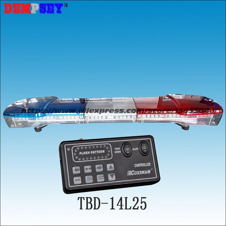 TBD-14L25 High quality DC12V 88W Led  light bar/Blue&Redr warning lightbar/police light bar/emergency lightbar/18 flash patterns