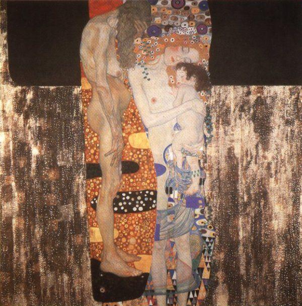 Mother & Child by Gustav Klimt | Mother with Child Art ...