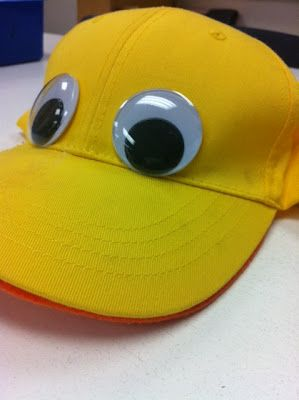 """These adorable hats that the ducks wore from """"The Ugly Duckling"""" were complete with over-sized googly eyes and an orange duck bill."""