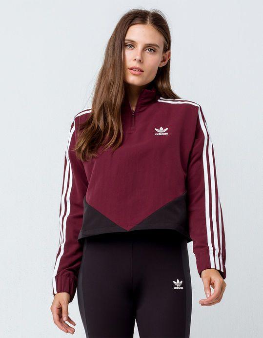 95a2d01de11 ADIDAS CLRDO Maroon Womens Crop Sweatshirt | xmas list 2018 | Adidas ...
