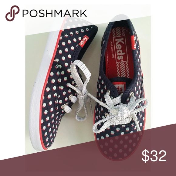 keds sneakers SIZE 10 Keds (navy/red/white sparkle) new Keds Shoes Sneakers