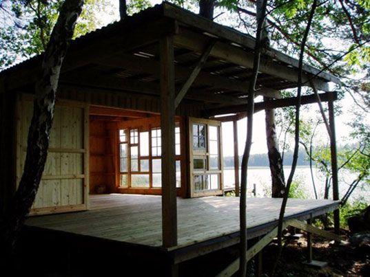 Great green home bj rkbo summer cabin sm hus och hus for Architecture 770