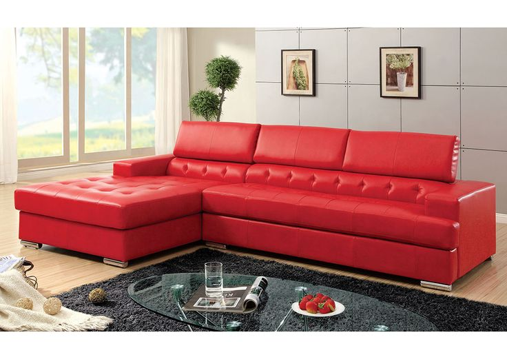Tufted Sectional, Leather Sectional Sofas, Sectional Furniture, Red Leather  Couches, Modern Sectional Sofas, Living Room Sectional, Bonded Leather,  Leather, ...