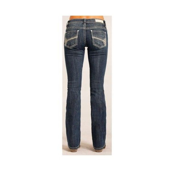 Rock Roll Cowgirl Women's Rival Low Rise Jeans Boot Cut ❤ liked on Polyvore featuring jeans, boot-cut jeans, boot cut jeans, low rise jeans, bootcut jeans and low rise bootcut jeans