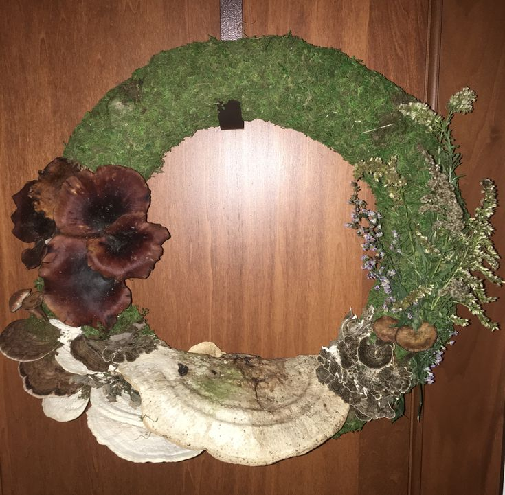 Foraged Autumn Mushroom Wreath
