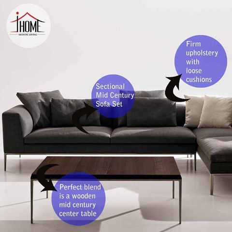 Define art with your style! Bring home comfort with #artistic #living! Sectional : customize sectional - Sectionals, Sofas & Couches