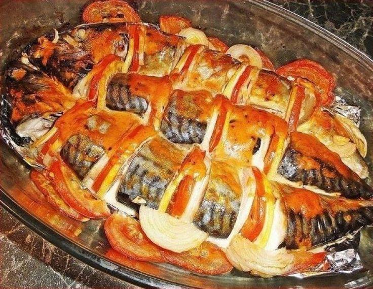 Скумбрия, запеченная в духовке   Самые вкусные кулинарные рецепты