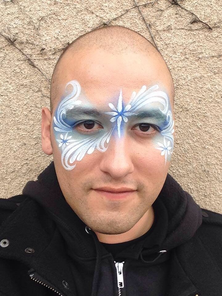 Ronnie Mena || winter teardrops, yes I know it is on a man. It is rather strange I will admit, but the face painting id fantastic!