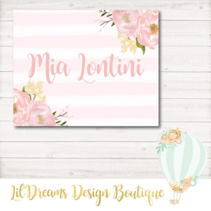 A personal favorite from my Etsy shop https://www.etsy.com/ca/listing/213795998/baby-nursery-decor-name-sign-baby-girl