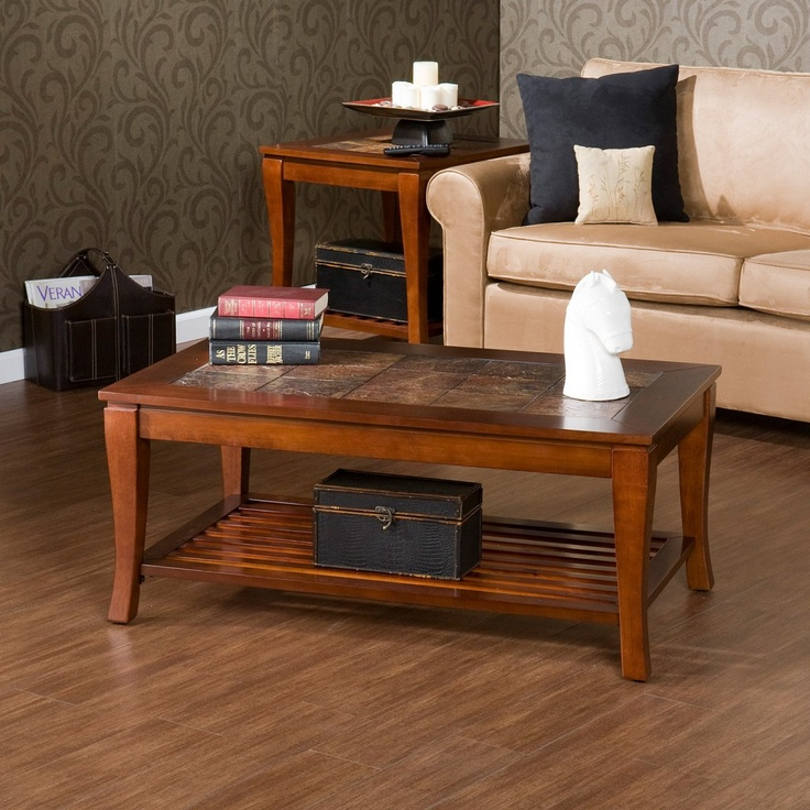 Southern Enterprises Cambria Slate Coffee Table Brown Cherry Coffee Tables At Hayneedle